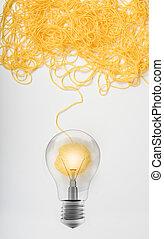 lã, conceito, idéia, bola, inovação