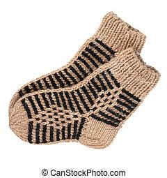 lã, meias