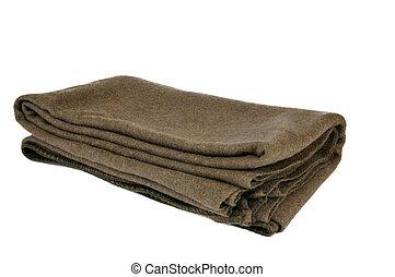 lã, militar, cobertor