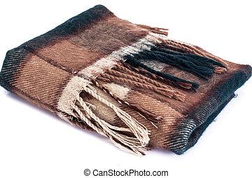 lã, morno, gaiola, echarpe