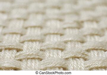 lã, tecido, textura, tecer