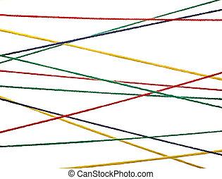 lã, tricotando, cadeia, cabo, coloridos, fundo