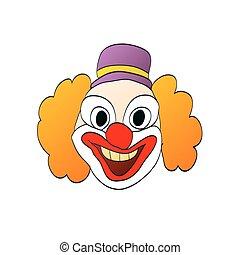 lächeln, abbildung, clown