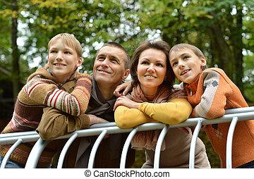 lächeln, familie, entspannend