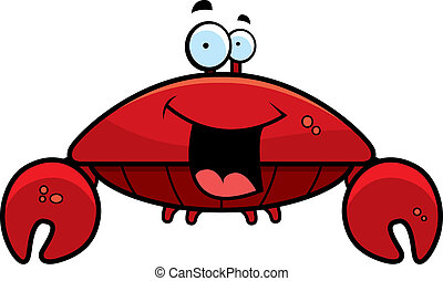 lächeln, krabbe