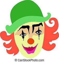 lächeln, lustiges, clown