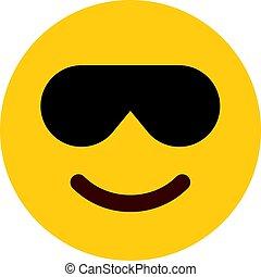 lächeln, sonnenbrille, emoji