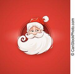 lächeln, weihnachtsmann, weihnachten, zeichen, gesicht