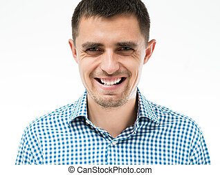 lächelnden mann