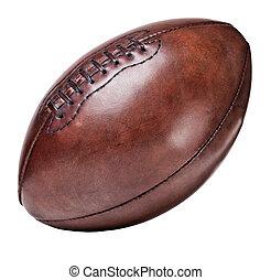 läder, årgång, fotboll