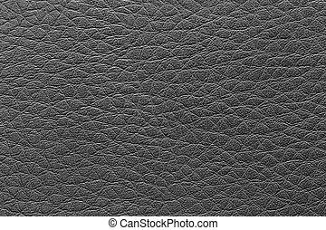 läder, bakgrund., svart, yta, årgång