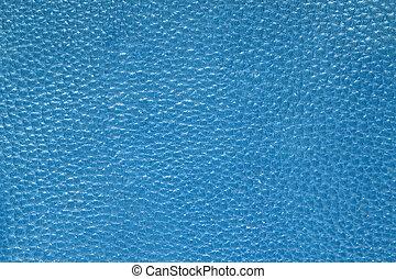 läder, blå