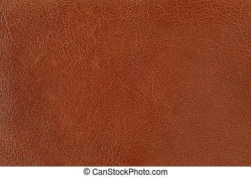 läder, brun