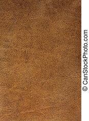 läder, brun fond