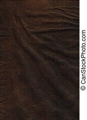 läder, brun, struktur