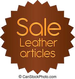 läder, etikett