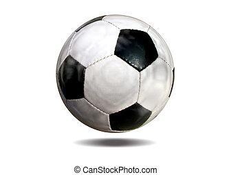 läder, fotboll