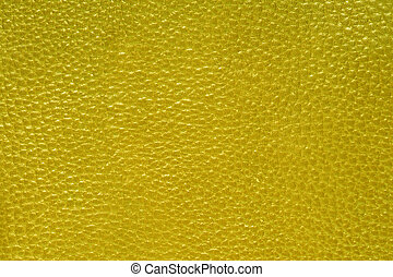 läder, gelb