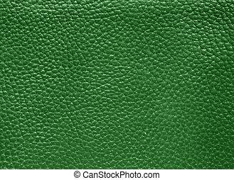 läder, grön
