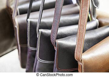 läder, hänger lös, handgjord