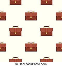 läder, portfölj, mönster, seamless