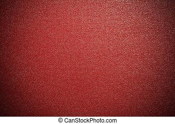 läder, röd fond