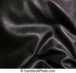 läder, svart