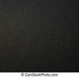 läder, svart, struktur