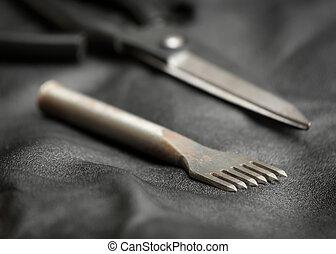 läder, tool., stansa