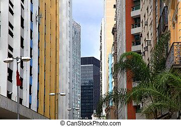 lägenhet anläggningar, färgrik