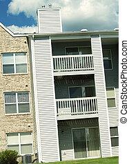 lägenhet, balkong