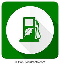 lägenhet, biofuel, bio, underteckna, drivmedel, ikon