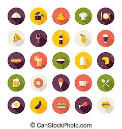 lägenhet, design, ikonen, för, restaurang