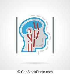 lägenhet huvud, tillförsel, abstrakt, vektor, blod, icon.