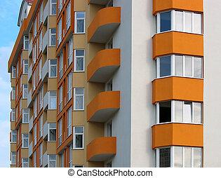 lägenhet, just, hus, specificera, färdig, färsk