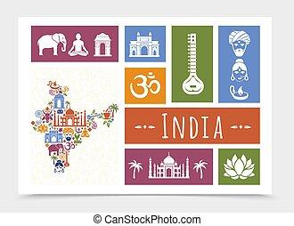 lägenhet, komposition, resa, indien