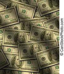 lägenhet, lagförslaget, dollar, en hundra, lögnaktig