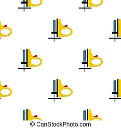lägenhet, mönster, gul, sladdlös, gengäldande såg