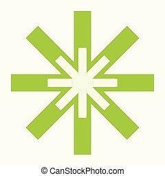 lägenhet, nät, medicinsk, isolerat, illustration, icon., din, design.