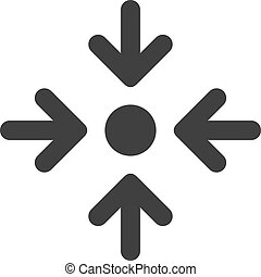 lägenhet, peka, symbol, vektor, möte, ikon
