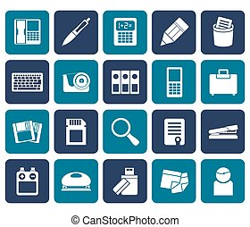 lägenhet, redskapen, ämbete ikon