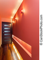 lägenhet, -, spatiös, korridor