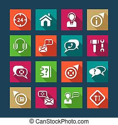 lägenhet, stöd, hjälp, ikonen