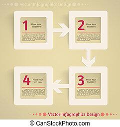 lägenhet, vektor, design, bakgrund, infographics