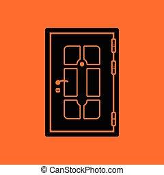 lägenheter, dörr, ikon