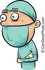 läkar skurar