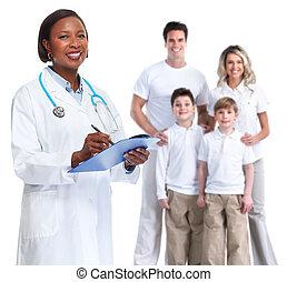 läkare., familj