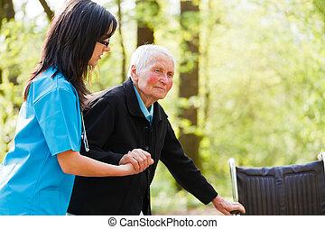 läkare, portion, äldre