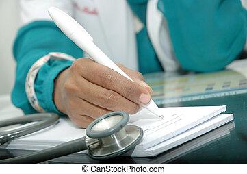 läkare, recept, skrift