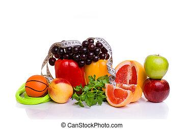 lämplighet utrustning, och, frisk mat
